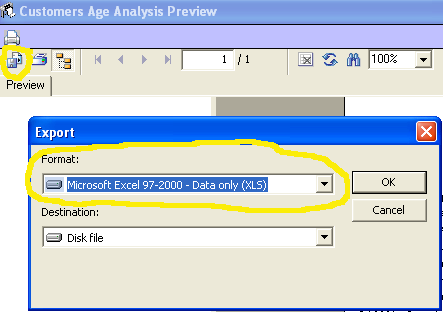 Export a report from PFIM to Excel format - Peritus Business